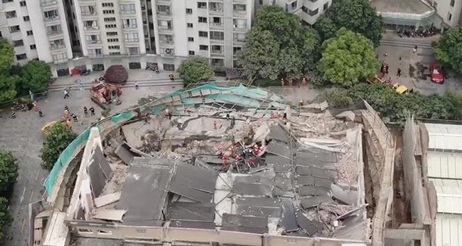 Çin'de çöken binada 5 kişi hayatını kaybetti