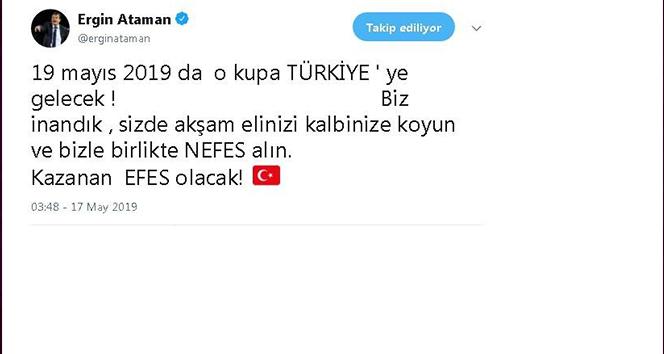 Ergin Ataman: 'O kupa Türkiye'ye gelecek'