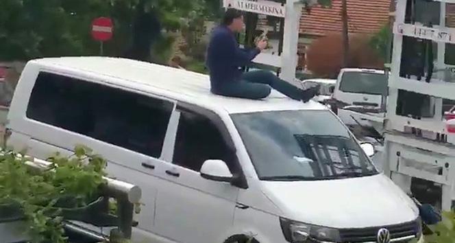 UBER sürücüsü aracının bağlanmasına böyle engel olmaya çalıştı