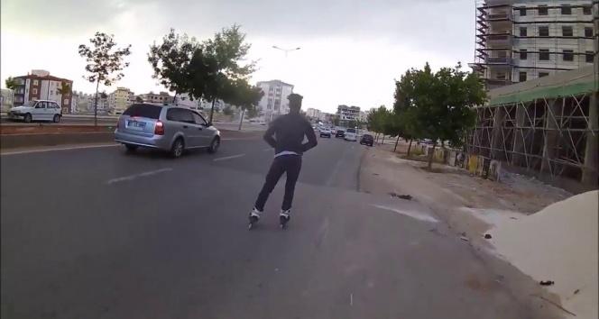 Gaziantep'te gençlerin paten terörü