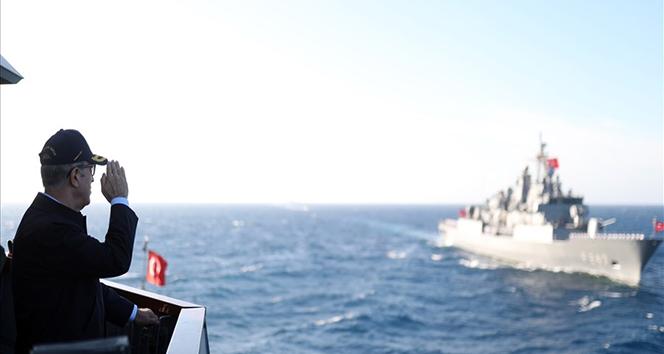 Bakan Akar, Denizkurdu 2019 Tatbikatı'nın Seçkin Gözlemci Günü'ne katıldı