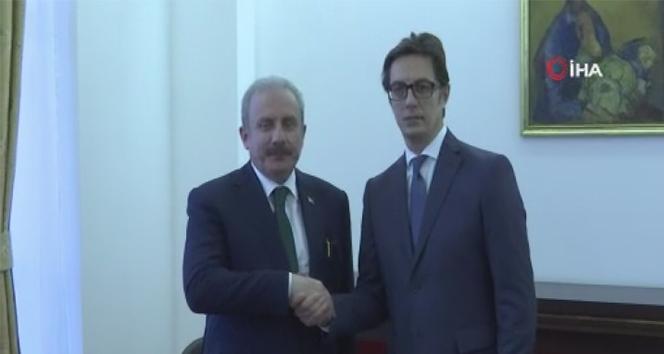 TBMM Başkanı Şentop, Kuzey Makedonya Cumhurbaşkanı ile görüştü