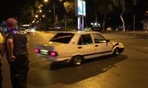Trafikte yüksek sesten ceza kesilen sürücü drift yaparak tepki gösterdi