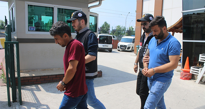 Çalıştıkları şantiyeden 250 bin TL'lik kablo çalan 2 kişi tutuklandı
