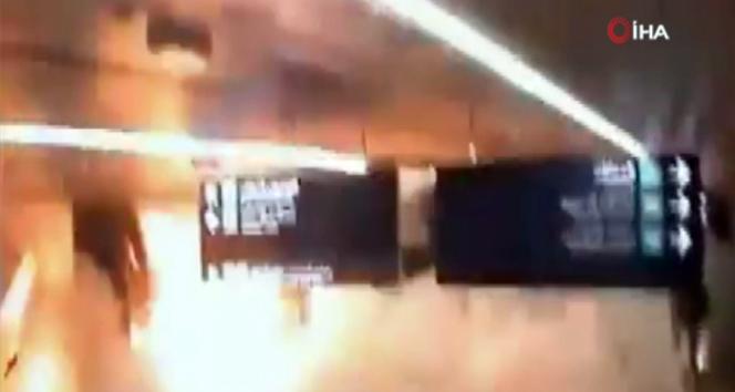 Suudi Arabistan'daki havaalanı saldırısının görüntüleri ortaya çıktı