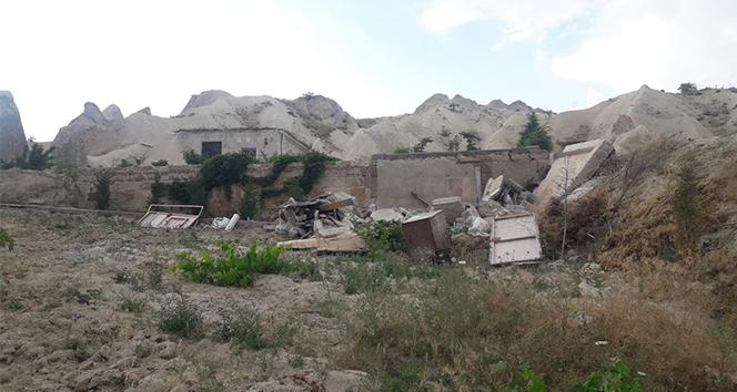Kapadokya'da 9 kaçak yapı daha yıkılıyor