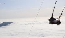 Huser Yaylası sis denizi ile kendini hayran bırakıyor
