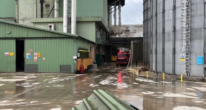 Yem fabrikasında toz deposu tamburu patladı: 2 yaralı