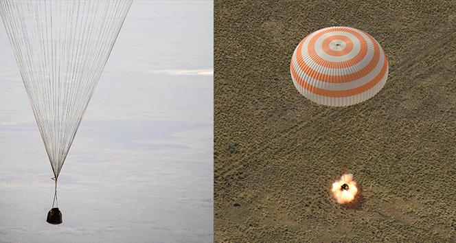 Soyuz MS 11, 204 gün sonra Dünya'ya geri döndü