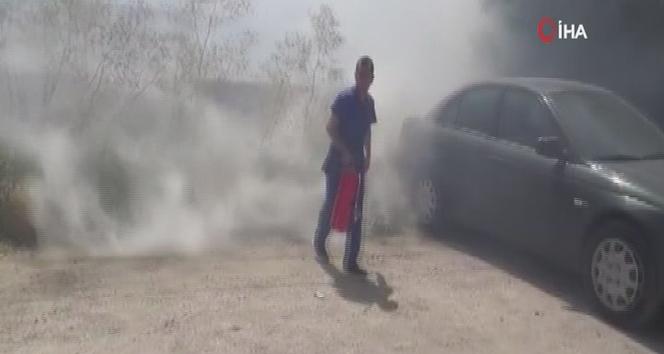 Silivri'de ot yangını paniğe neden oldu