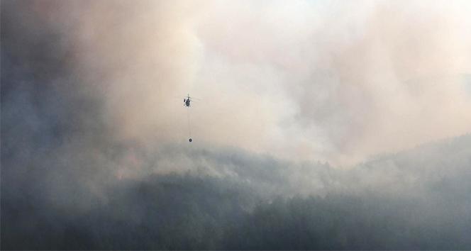 Muğla'da alevlerin tehdit ettiği iki köy boşaltıldı