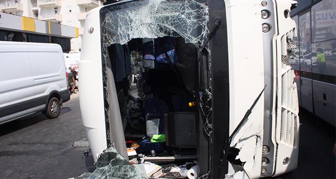 Antalya'daki kazada çok sayıda Rus turist yaralandı