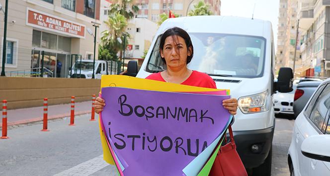 Kocasından boşanamadığı için eylem yapan kadına devlet desteği