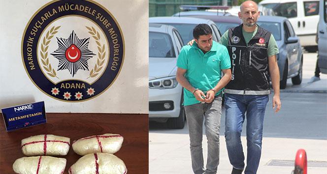 Adana'da koltuğun sırt bölümünde 473 gram uyuşturucu ele geçirildi ile ilgili görsel sonucu