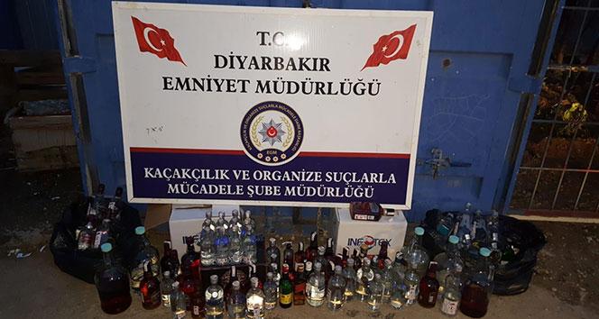 Diyarbakır'da kaçak içki satan 15 ayrı adrese eş zamanlı baskın