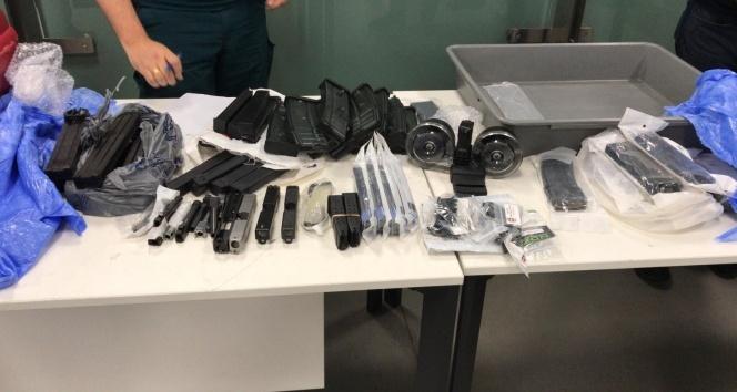 İstanbul Havalimanı'nda operasyon! Çok sayıda silah parçası ele geçirildi