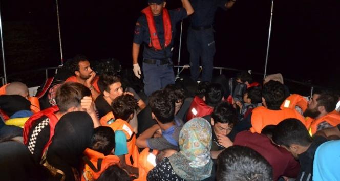 Ayvalık'ta 46 Afgan göçmen yakalandı