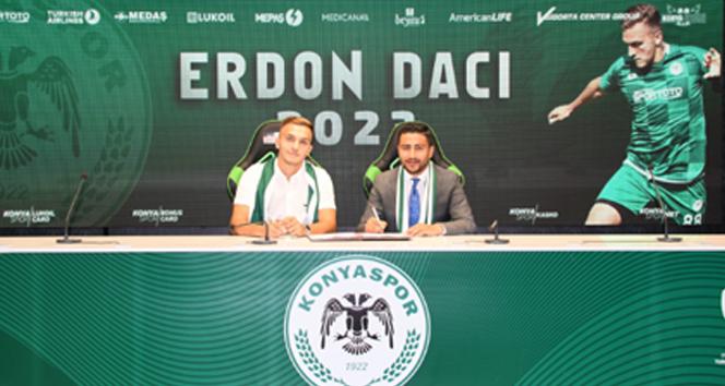 Konyaspor, Erdon Daci'nin sözleşmesini 3 yıl uzattı
