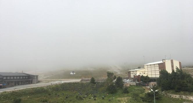 Erciyes'te yoğun sis etkili oldu
