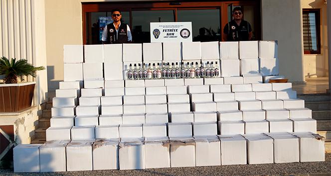 Fethiye'de bin 535 litre sahte içki ele geçirildi