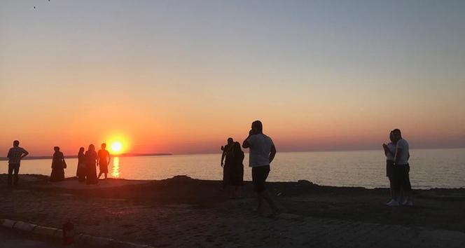 Türkiye'nin en kuzeyinde gün batımı güzelliği