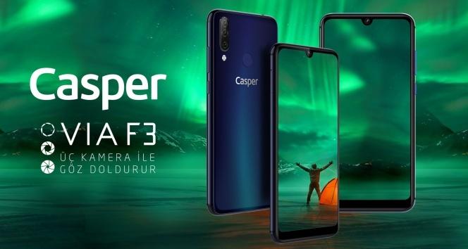 Casper'dan üç kameralı yeni telefon: Casper VIA F3