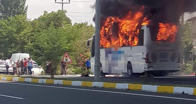 SON DAKİKA BALIKESİR HABERLERİ! Balıkesir'de yolcu otobüsü alev aldı! 5 ölü