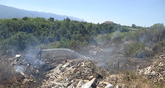 İnegöl'de korkutan orman yangını