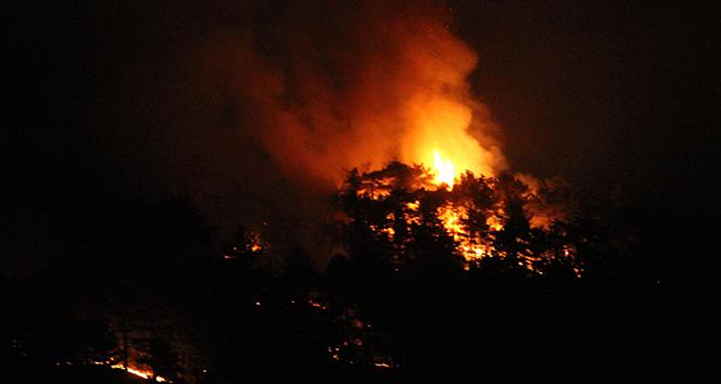 Eskişehir'de yangının olduğu alan çevrelendi