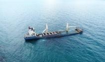 Şile'de karaya oturan geminin son hali havadan görüntülendi