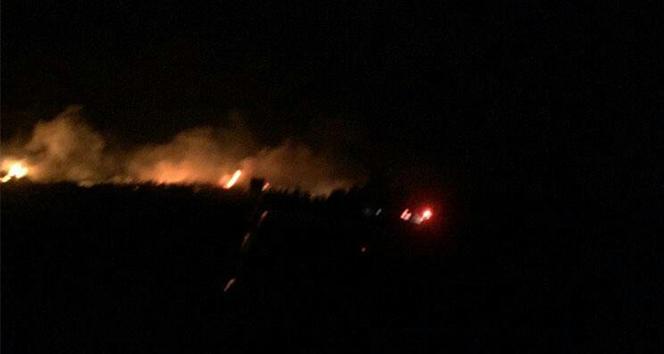 Samandağ'da korkutan yangın
