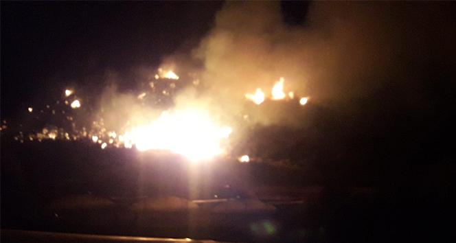 Kumluca'da korkutan yangın söndürüldü