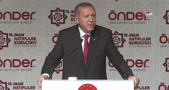 Cumhurbaşkanı Erdoğan, 'Önder İmam Hatipliler Buluşması'nda konuştu