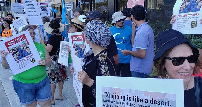 ABD'de Çin'in Doğu Türkistan'daki zulmü protesto edildi