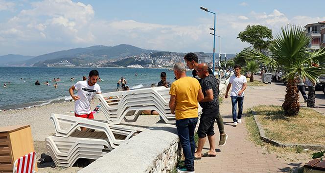 Mudanya ve Büyükşehir zabıtasından kıyı işgâline müdahale