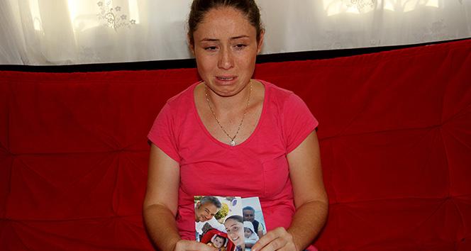 Eşinin dönmesini gözyaşları içinde bekliyor