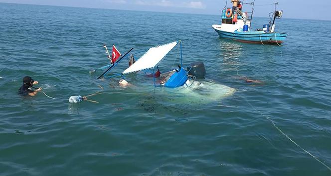 Tekne battı, balıkçılar seferber oldu