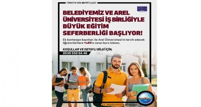 Büyükçekmece Belediyesi ve Arel Üniversitesinden yüzde 80 burs imkanı
