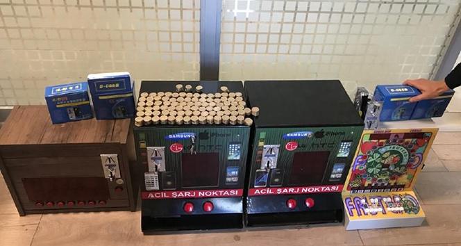 Polis görünümü değiştirilmiş kumar makinelerini buldu