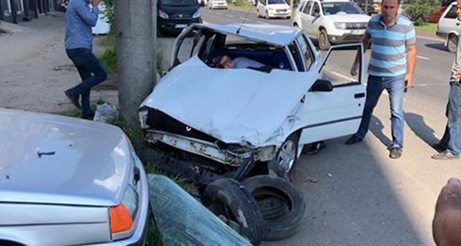 Fatsa'da zincirleme trafik kazası: 2 yaralı