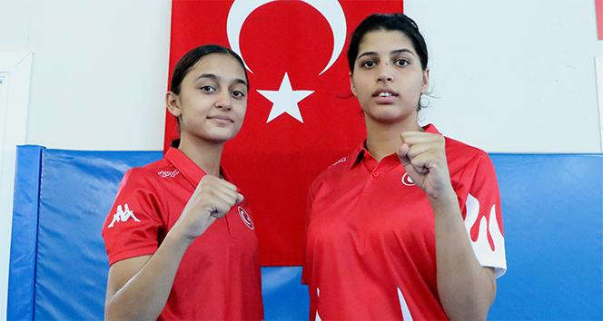 Şampiyon tekvandocu kızların hedefi dünya şampiyonluğu