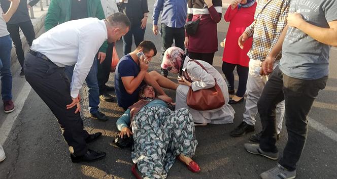 Yaralı kadın hastaneye götürülürken ikinci kazadan kıl payı kurtuldu