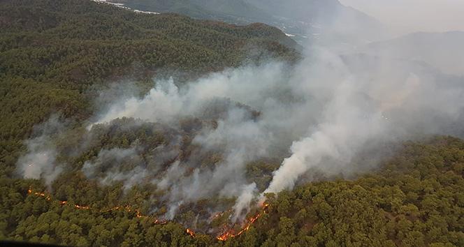 Ortaca'daki yangın için bölgeden helikopter desteği geldi
