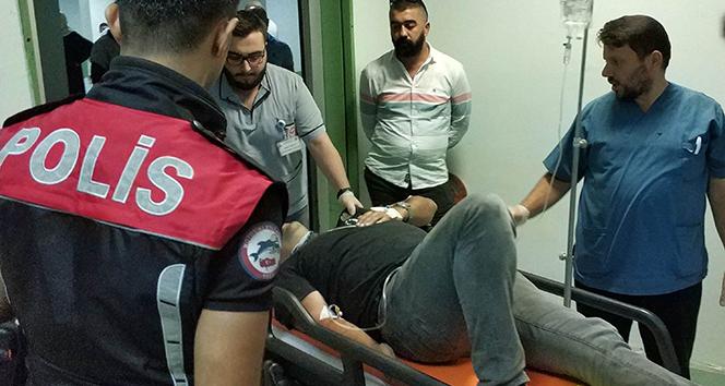 Samsun'da polis memuru kazada yaralandı