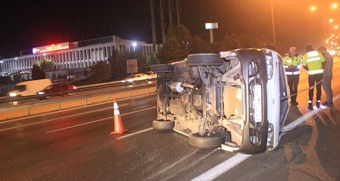 TEM Otoyolunda trafik kazası, yaralılar var