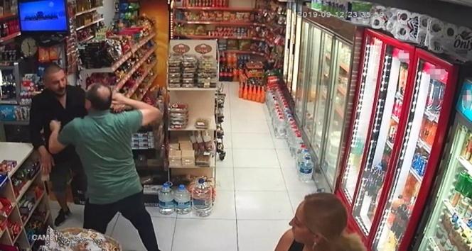 Marketten para çalan hırsız sert kayaya çarptı