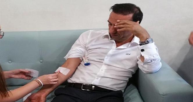 Başkan Adil Gevrek golün heyecanına dayanamadı