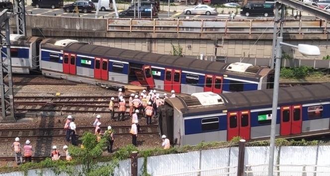Hong Kong'da tren kazası: 8 yaralı