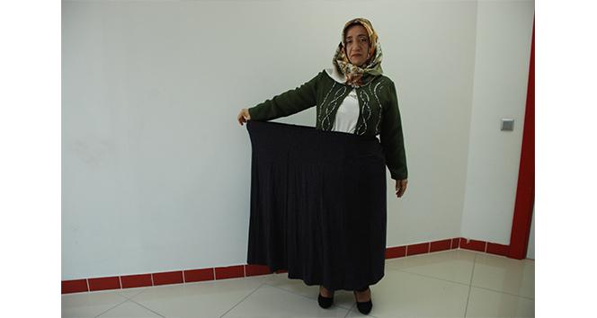 Diyetle 13 ayda 56 kilo verdi