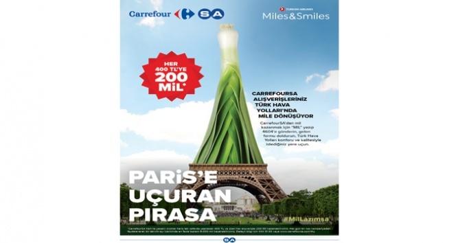 CarrefourSA alışverişleri, Türk Hava Yolları'nda mile dönüşüyor